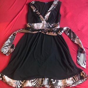 Xoxo Brown and Pink Party Dress Size Small